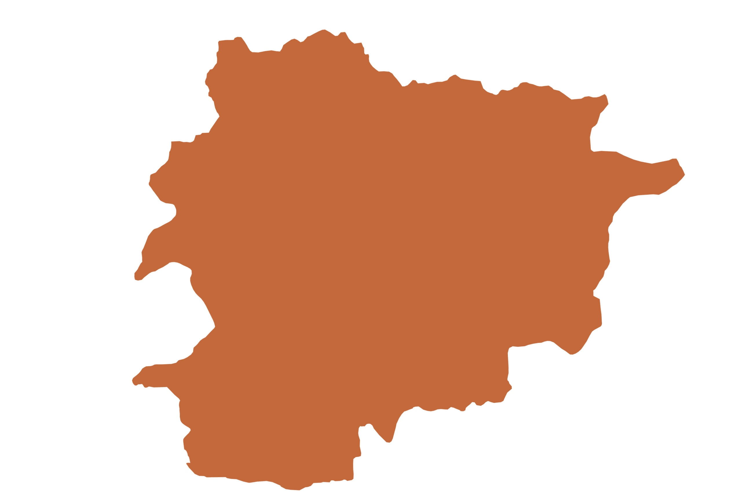 Andorra map in orange from list of missing countries for 1 Earth City Portrait Photography Project aka NYChildren by Danny Goldfield.