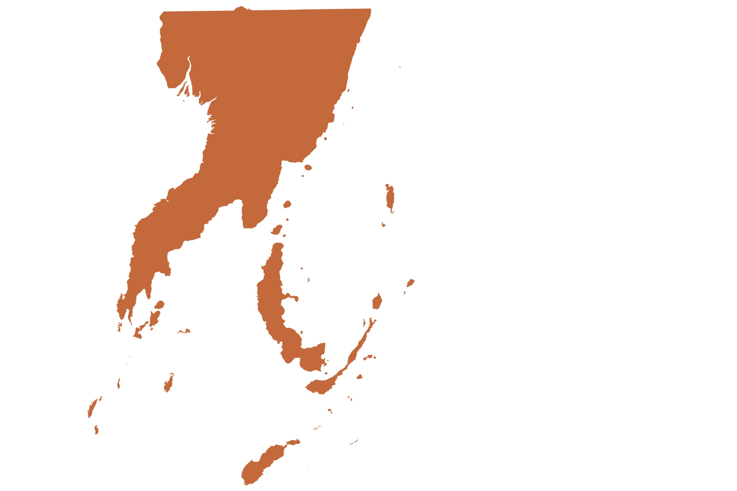 Papua New Guinea map in orange from list of missing countries for 1 Earth City Portrait Photography Project aka NYChildren by Danny Goldfield.