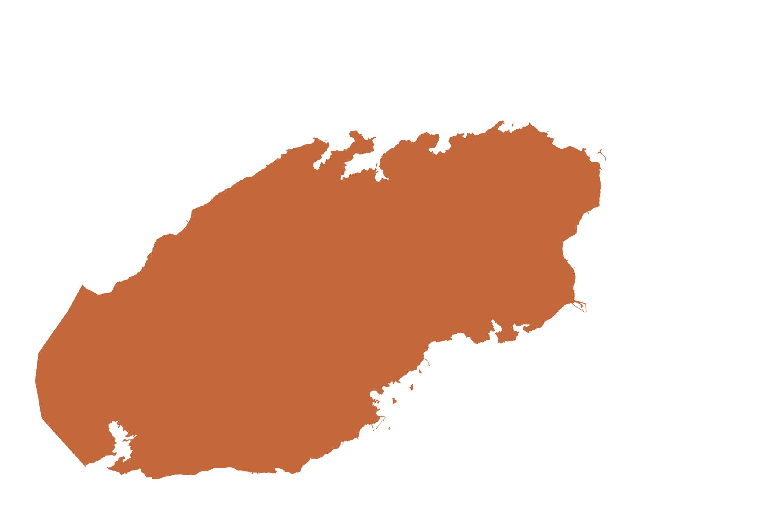 Qatar map in orange from list of missing countries for 1 Earth City  Portrait Photography Project aka NYChildren by Danny Goldfield.