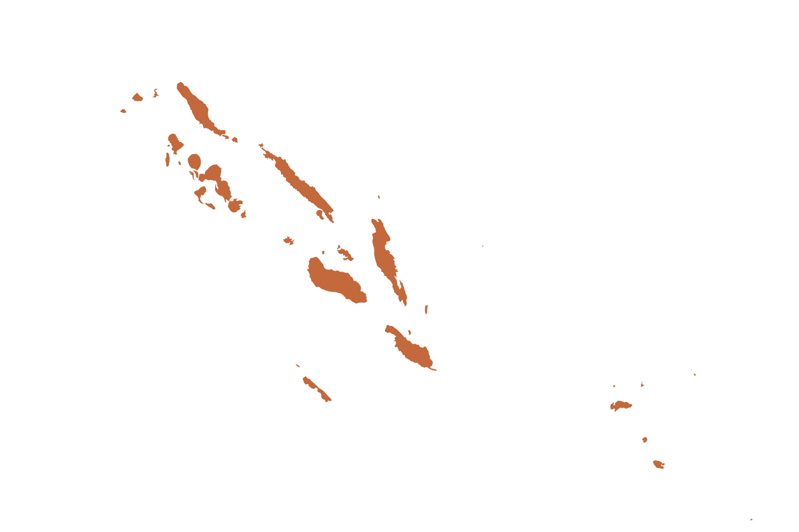 Solomon Islands map in orange from list of missing countries for 1 Earth City Portrait Photography Project aka NYChildren by Danny Goldfield.