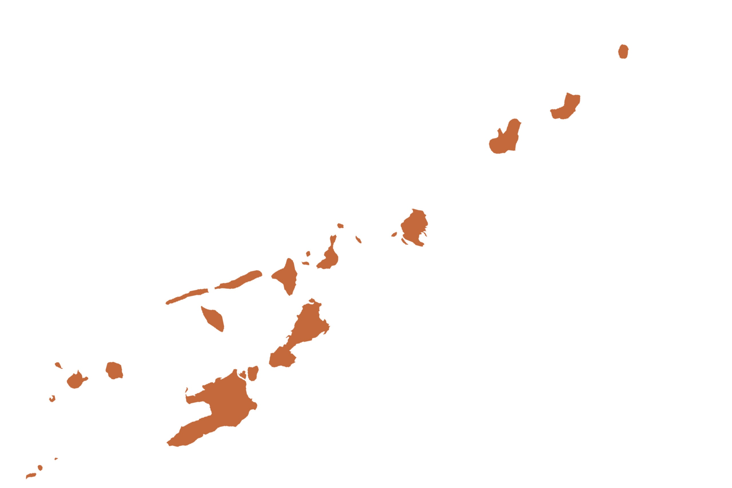 Vanuatu map in orange from list of missing countries for 1 City Earth Portrait Photography Project aka NYChildren by Danny Goldfield.